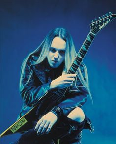 Alexi Laiho (Children of Bodom, Sinergy, Kylähullut, Impaled Nazarene, Thy Serpent) Alexi Laiho, Children Of Bodom, Bullet For My Valentine, Peter Steele, Best Guitarist, Metal Albums, Motionless In White, Black Wings, Jack White