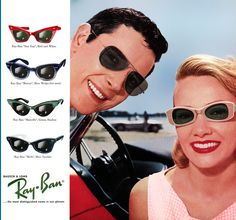 "Throwback Thursday! Vote for your favorite vintage Ray Ban ad by ""liking"" it. #opticalconnection #rayban"