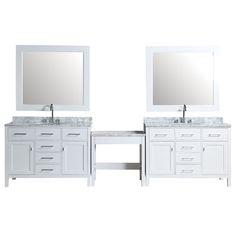 Gallery Website London Double Bathroom Vanity Set with Mirrors Wayfair