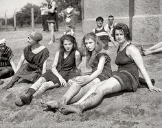 "Dirty Girls: 1922 (Washington, D.C., circa 1922. ""Potomac bathing beach."")"