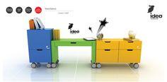 Set de estudio infantil compuesto por archivero, escritorio y cajonera $ 10,800 Dimensiones de 2mts de largo x 30cm de ancho x 70cm de alto (https://www.facebook.com/Idearesidencial)