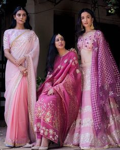 Shades of love infused with the classic gota pati, zardosi and resham embroidery placed onto exquisite fabrics. Find your favorite summer… Call/WhatsApp for more details Purchase Indian Attire, Indian Ethnic Wear, Indian Style, India Fashion, Asian Fashion, Indian Dresses, Indian Outfits, Pakistani Outfits, Lehenga Designs