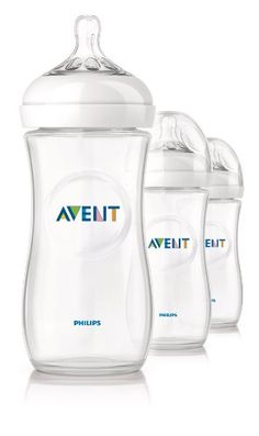 Philips Avent BPA Free Natural Polypropylene Bottle, 11 Ounce, 3-Count - $17.84