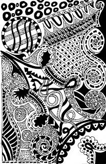 giddy up lets ride: Zentangle #1 for 2010 has been completed...