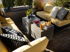 Contemporary Sofas Create Front Patio Seating