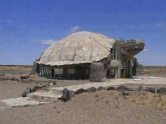 Stone house in the shape of a desert tortoise in, well, the desert...