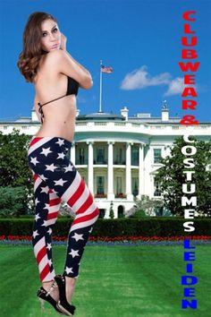 GAVE #AMERICAN #FLAG #LEGGING MET STARS & STRIPES, 34/36/38, €14,95