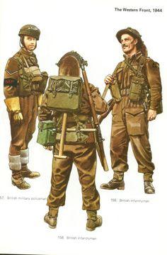 BRITISH ARMY - British Infantry Militar Policeman, British Army Infantryman…