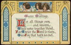 Easter Angels Vintage Postcard circa 1912