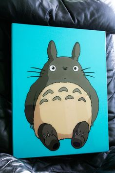 This is an awesome Totoro painting