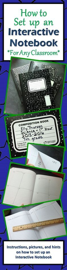 Detailed instructions and pictures on how to set up an interactive notebook in your classroom