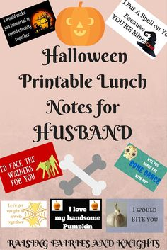 Halloween Printable Lunch Notes for Husband Halloween Printable Lunch Notes for Husband MrsPartyPlanner Halloween! Halloween Printable Lunch Notes for HUSBAND 1 &; These cute free […] lunch for husband Samhain Halloween, Holidays Halloween, Scary Halloween, Spooky Scary, Husband Lunch, Husband Love, Halloween Themed Food, Halloween Themes, Lunch Box Notes
