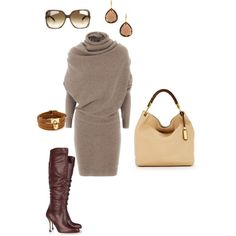 A fashion look from August 2012 featuring Lanvin dresses, Brian Atwood boots and Michael Kors shoulder bags. Browse and shop related looks.