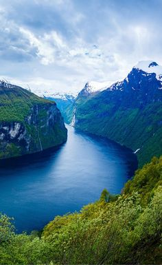 The famous Geiranger Fjord in Norway. Click through to see 20 more photos that will inspire you to travel to Norway!
