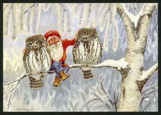Julkort av Leif Holmqvist