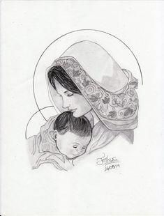 Virgin Mary and baby Jesus. *__* by JesusAgudo.deviantart.com on @DeviantArt