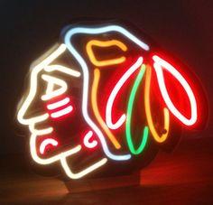 Chicago Blackhawks Neon by OldsCoolMoto on Etsy, $150.00