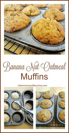 Banana Nut Oatmeal Muffins ~ Over the years, I have made many, many muffins of all sizes and flavours, but this recipe for Banana Nut Oatmeal Muffins definitely ranks very near to the top on my list of all time favourites.
