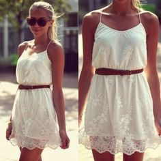 White Lace Mini Party Dress
