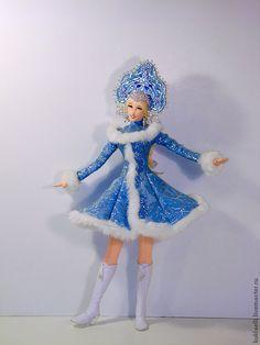 Купить Кукла Снегурочка - голубой, снегурочка, Новый Год, кукла, снежинка, подарок на новый год, рождество