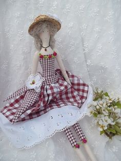 """POUPEE en tissu, chiffon pour décoration....Pin'UP """"JOSIE la petite Normande"""" : Accessoires de maison par paquita-14400"""