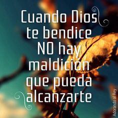 Cuando #Dios te bendice no hay maldición que pueda alcanzarte #AdorandoalRey