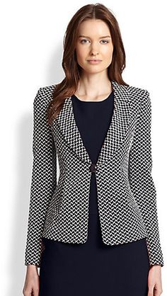 Shop for Armani Collezioni Oval Jacquard Jersey Jacket at ShopStyle. Now for Sold Out.ShopStyle is where fashion happens. Find the latest couture and fashion designers while shopping for clothes, shoes, jewelry, wedding dresses and more!Shop the Arma Mode Outfits, Office Outfits, Casual Outfits, Girl Outfits, Smart Outfit, Blazer Fashion, Couture, Business Attire, Business Women