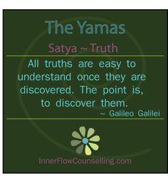 #yoga #yamas #satya - truth