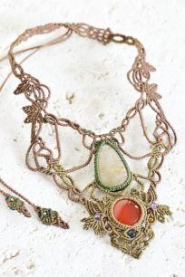 マクラメアクセサリー - マクラメネックレス・チョーカー - 旅する天然石とマクラメアクセサリーのお店 Macrame Jewelry MANO