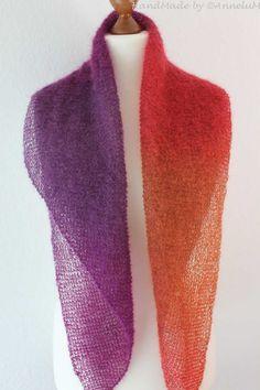 Best Pics Crochet shawl mohair Tips Schal aus 50 Gramm Silkhair Degrade von LanaGrossa Shawl Patterns, Knitting Patterns, Crochet Patterns, Easy Knitting Projects, Woven Wrap, How To Start Knitting, Garter Stitch, Crochet Shawl, Free Knitting