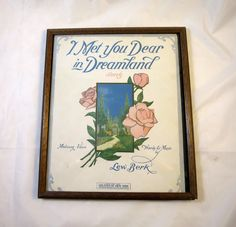 Art Deco Picture I Met You Dear in by BonniesVintageAttic on Etsy