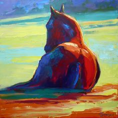 """Nap in the Sun"" oil   artist Cyndra Bradford"