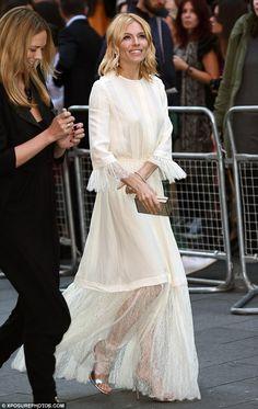 Sienna Miller in Michael Kors dress - 'High-Rise' premiere in London. (9 October 2015)