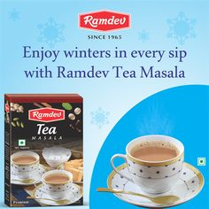Each cup celebrates winters & every sip is filled with ingredients to rejoice. So when the cool breeze comes, enjoy winters in every sip with Ramdev Tea Masala.     For online orders - https://www.ramdevstore.com/     #Ramdev #Winters #Tea