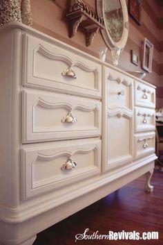 Vintage 1970's Dresser Becomes Modern BuffetA Dresser Revival - Southern Revivals