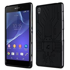 brilliant Cruzerlite Bugdroid Circuit Case for Sony Xperia Z3 - Black (Retail Packaging)