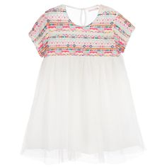 Billieblush Girls Ivory Tulle Dress at Childrensalon.com