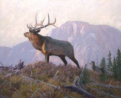 Elk painting by William Alther