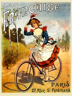 Societe la Francaise poster by  Pal 1892 France - Vintage Cucles Bicycles Posters Reproductions.