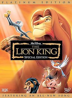 The Lion King [PN1997 .L566 2003] Tricked into thinking he killed his father, a guilt ridden lion cub flees into exile and abandons his identity as the future King.   Directors:Roger Allers, Rob Minkoff   Writers:Irene Mecchi (screenplay), Jonathan Roberts (screenplay), Stars:Matthew Broderick, James Earl Jones, Jeremy Irons