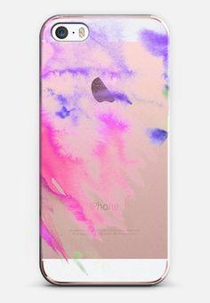 blue and purple watercolor iPhone SE case by Olga Komasinska | Casetify