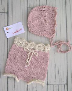 Pant Bonnet Newborn photo props Newborn set Handmade