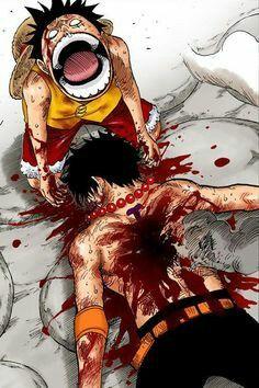 Ace death-- saddest moment of one piece Trágica escena Ace One Piece, One Piece Luffy, Mugiwara No Luffy, One Punch Man Manga, Ace And Luffy, Anime D, 0ne Piece, Manhwa, Monkey D Luffy