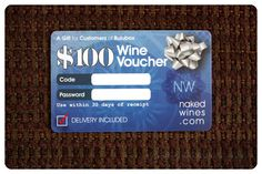December 2014 Bulu Box: Naked Wines Wine Voucher Card. Naked Wines is a customer funded winery where customers can earn wholesale prices (40%-60% off) for helping fund independent winemakers. This gift card is good towards $100 of wine. Woo hoo! Price: USD $10.00/month -- #health #fitness #nutrition #lifestyle #bestowed #subscriptionbox
