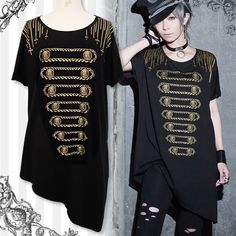 Unique military atmosphere Golden Chain T-shirt by Black MiQuri