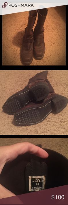FRYE Harness Boots Worn twice! In excellent condition! Frye Shoes Ankle Boots & Booties