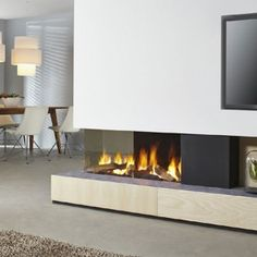Find out all of the information about the DRU product: gas fireplace DRU METRO . Modern Fireplace, Living Room With Fireplace, Fireplace Design, Gas Fireplace, Fireplace Ideas, Insert Double Face, Eclectic Decor, Modern Decor, Log Effect Gas Fires