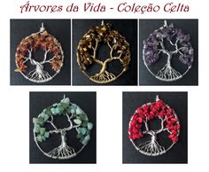 Lindos pingentes da Árvore da vida parte da nossa coleção nova. Para ver outros modelos de pingentes acesse www.equilibriumbijuteriasartesanais.com