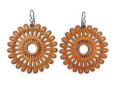 Centro Laser cut wood earrings Nature inspired by Zooratura