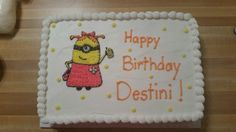 Birthday cake for a little Minion fan.